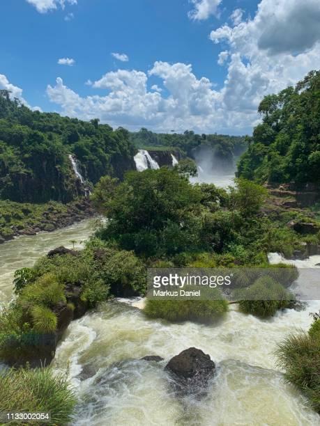 "iguazu falls (cataratas do iguaçu, brazil) garganta do diabo (devil's throat) runoff - ""markus daniel"" imagens e fotografias de stock"