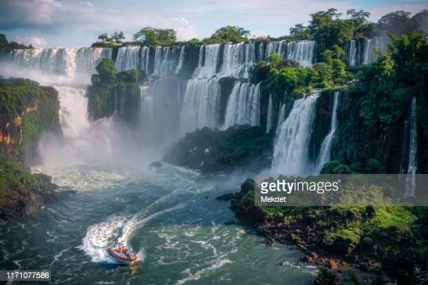 iguazu falls, iguazu national park, brazil-argentina-paraguay border. - parana state stock pictures, royalty-free photos & images