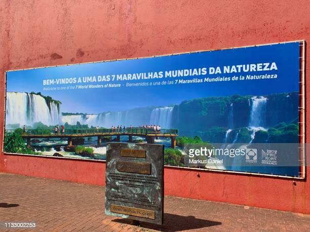 "iguazu falls (cataratas do iguaçu, brazil) national park information signs - ""markus daniel"" stock pictures, royalty-free photos & images"