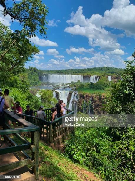 """iguazu falls (cataratas do iguaçu, brazil) observation platform - """"markus daniel"""" stock-fotos und bilder"""