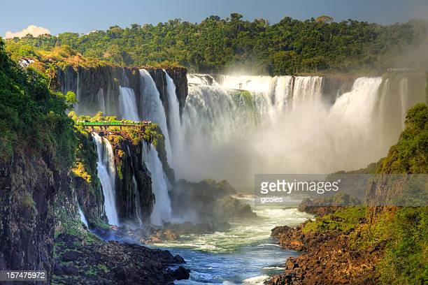 iguazu falls - brazil vs argentina stock photos and pictures