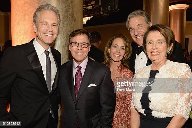 iHeartMedia President John Sykes journalist Bob Costas Jill Sutton Paul Pelosi and Minority Leader of the House of Representatives Nancy Pelosi...