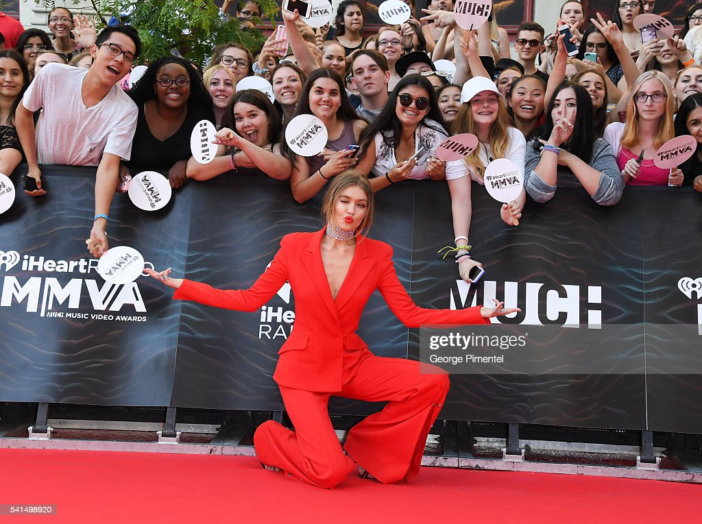 iHeartRADIO MuchMusic Video Awards host Gigi Hadid arrives at the 2016 iHeartRADIO MuchMusic Video Awards at MuchMusic HQ on June 19th, 2016 in Toronto, Canada.