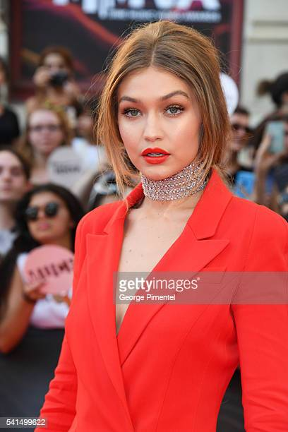 iHeartRADIO MuchMusic Video Awards host Gigi Hadid arrives at the 2016 iHeartRADIO MuchMusic Video Awards at MuchMusic HQ on June 19th 2016 in...