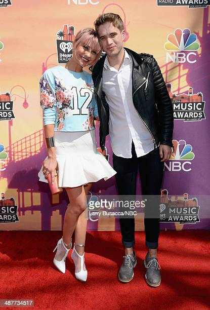 iHEARTRADIO MUSIC AWARDS Pictured Actress Chelsea Kane and singersongwriter Brian Logan Dales arrive at the iHeartRadio Music Awards held at the...