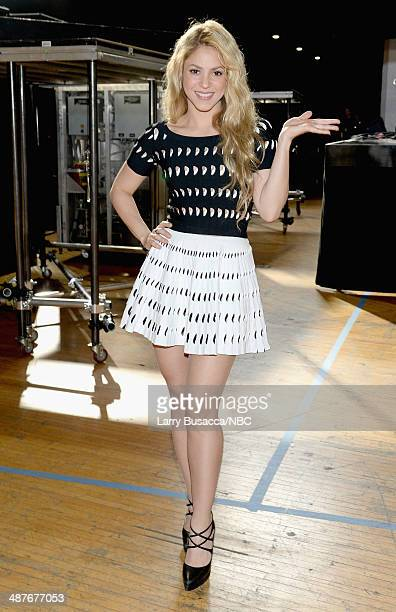 iHEARTRADIO MUSIC AWARDS Pictured Recording artist Shakira poses at the iHeartRadio Music Awards held at the Shrine Auditorium on May 1 2014