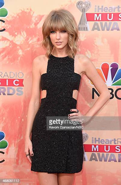 IHEARTRADIO MUSIC AWARDS -- Pictured: Recording artist Taylor Swift arrives at the iHeartRadio Music Awards held at the Shrine Auditorium on March...