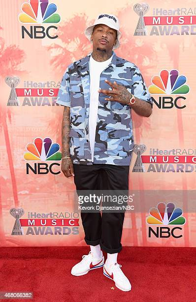 iHEARTRADIO MUSIC AWARDS Pictured Recording artist YG arrives at the iHeartRadio Music Awards held at the Shrine Auditorium on March 29 2015 in Los...