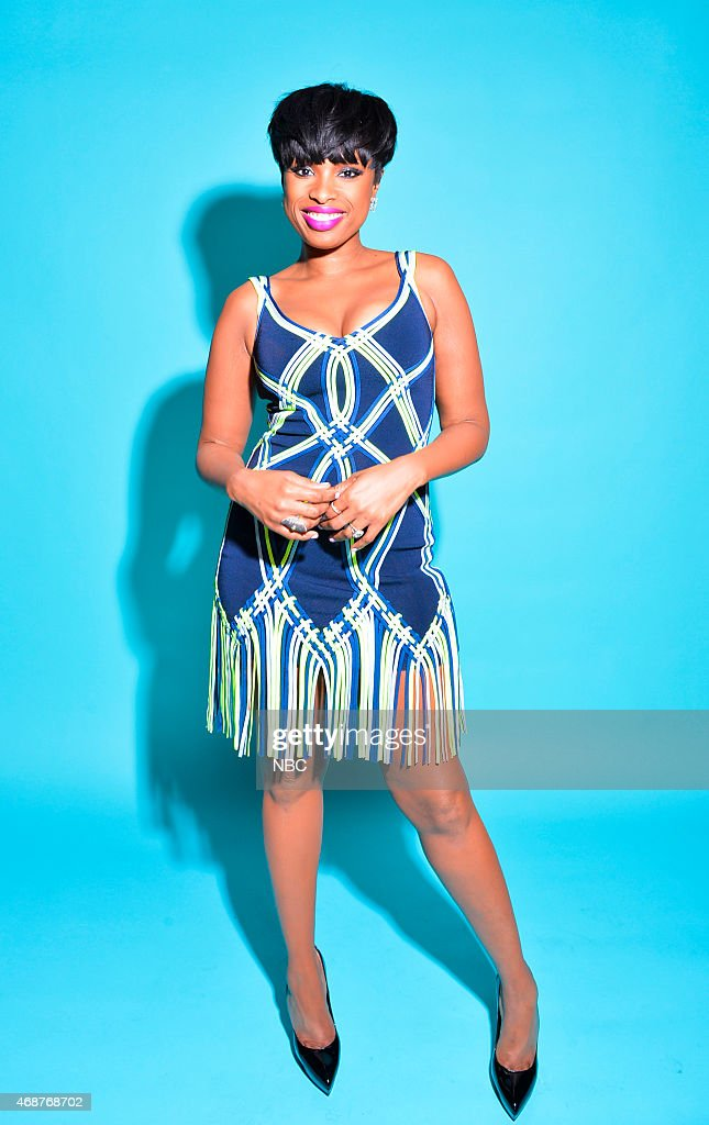Recording artist/actress Jennifer Hudson poses in the NBC photo booth during the 2015 iHeartRadio Music Awards held at the Shrine Auditorium on March 29, 2015 in Los Angeles, California.--
