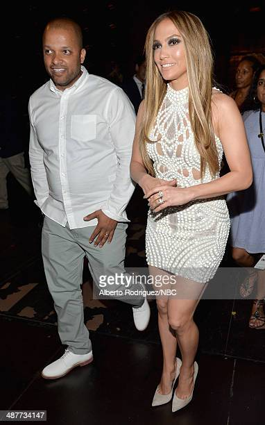 iHEARTRADIO MUSIC AWARDS Pictured Roc Nation's Jay Brown and recording artist/actress Jennifer Lopez attend the iHeartRadio Music Awards held at the...