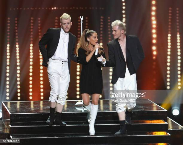 iHEARTRADIO MUSIC AWARDS Pictured Singer Ariana Grande performs onstage during at the iHeartRadio Music Awards held at the Shrine Auditorium on May 1...