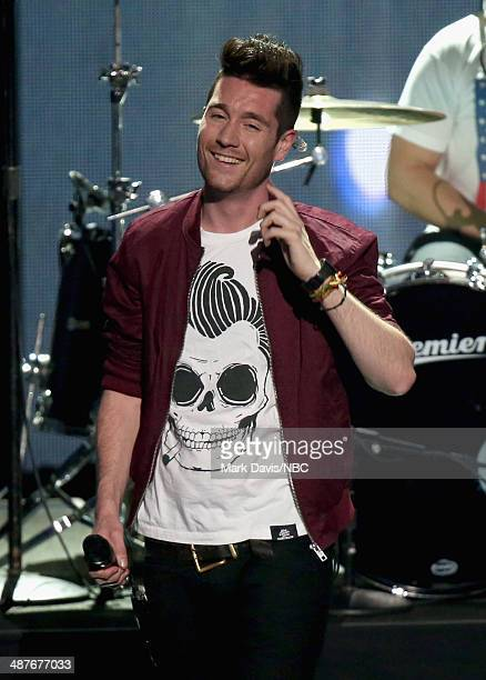 iHEARTRADIO MUSIC AWARDS Pictured Singer Dan Smith of Bastille performs onstage during the iHeartRadio Music Awards held at the Shrine Auditorium on...