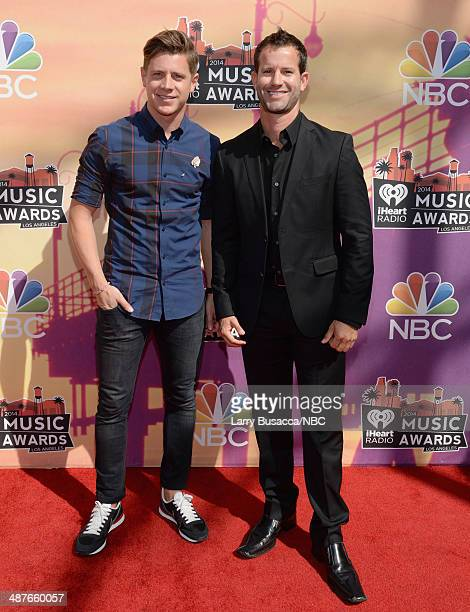 iHEARTRADIO MUSIC AWARDS Pictured TV Personalities Jef Holm and Kiptyn Locke arrive at the iHeartRadio Music Awards held at the Shrine Auditorium on...