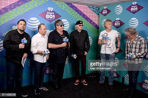 iHeartRadio personality Jay Towers speaks with musicians Matt Frenette Mike Reno Paul Dean Doug Johnson and Ken 'Spider' Sinnaeve of Loverboy...