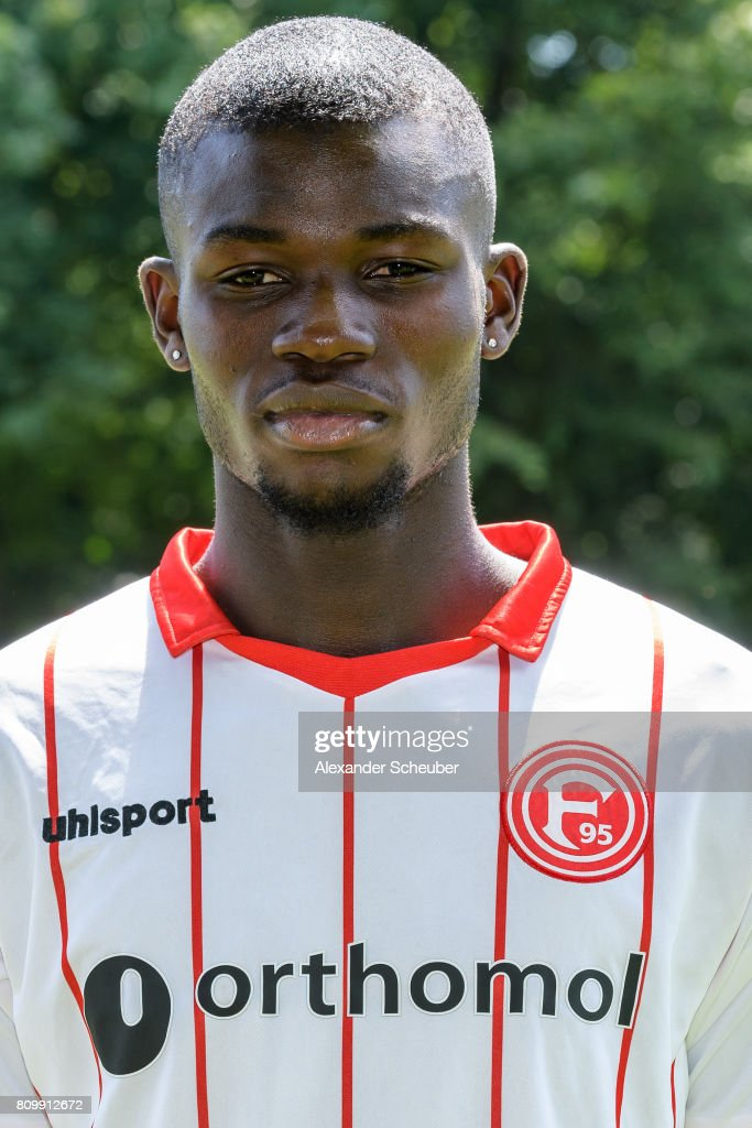 Ihlas Bebou of Fortuna Duesseldorf poses during the team presentation at on July 6, 2017 in Duesseldorf, Germany.