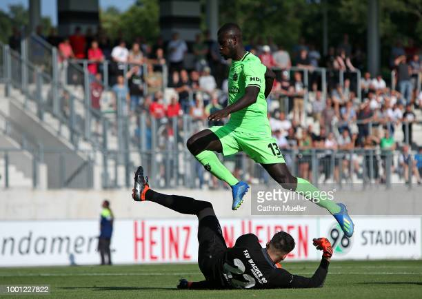 Uffe Bech of Hannover in action during the preseason friendly match between Hannover 96 and FSV Wacker 90 Nordhausen at Hannover Akademie on July 18...