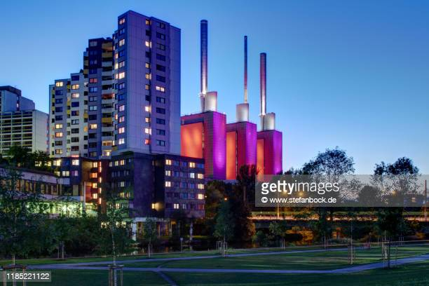 ihme zentrum and power plant hannover linden - lower saxony stock pictures, royalty-free photos & images