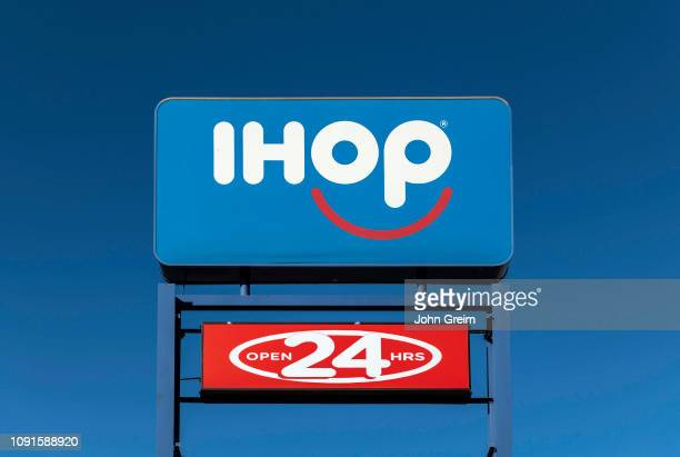 iHop International House of Pancakes logo and sign