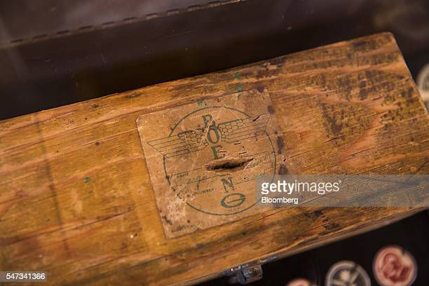IIera wooden tool box used by female aircraft workers on loan from Boeing Co's archives sits on display in the Red Barn at the Museum of Flight in...