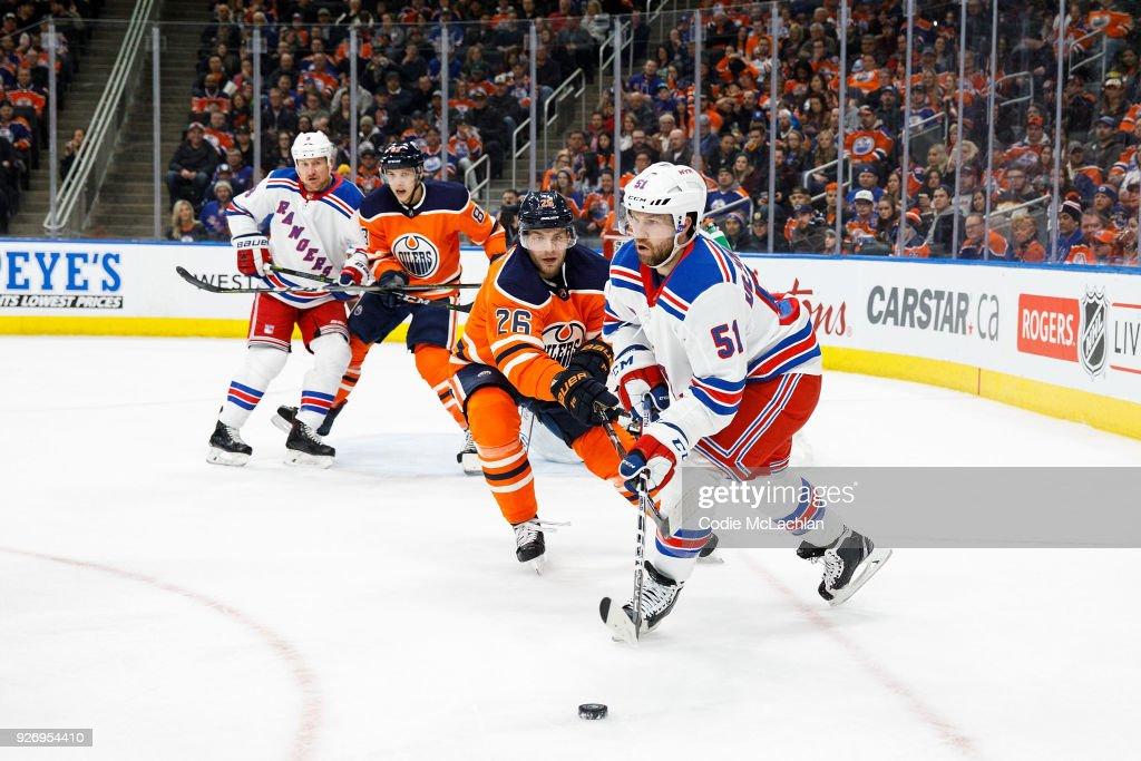 New York Rangers v Edmonton Oilers : News Photo
