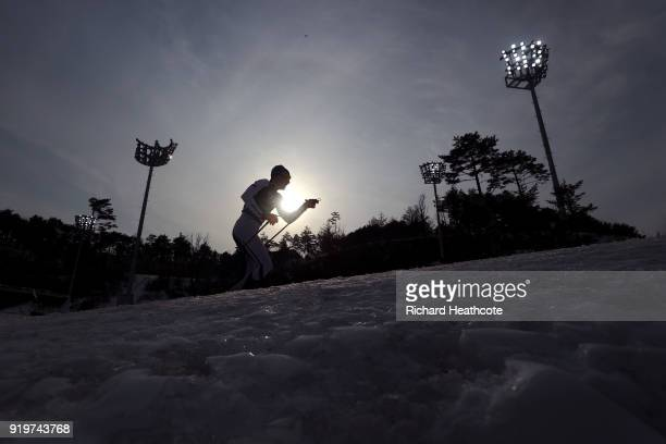 Iivo Niskanen of Finland competes during CrossCountry Skiing men's 4x10km relay on day nine of the PyeongChang 2018 Winter Olympic Games at Alpensia...