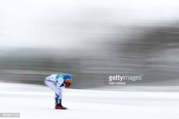 Iivo Niskanen of Finland competes during the Men's 50km Mass Start Classic on day 15 of the PyeongChang 2018 Winter Olympic Games at Alpensia...