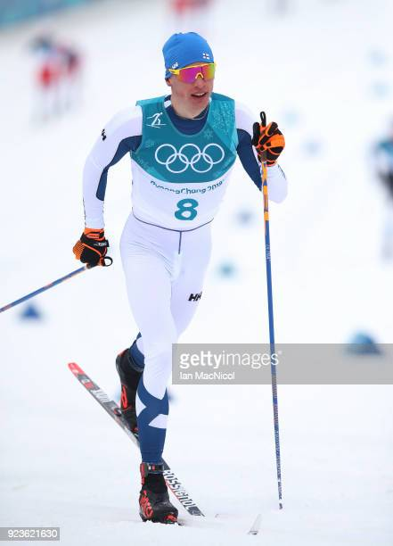Iivo Niskanen of Finland is seen during the Men's 50km Mass Start Classic at Alpensia CrossCountry Centre on February 24 2018 in Pyeongchanggun South...