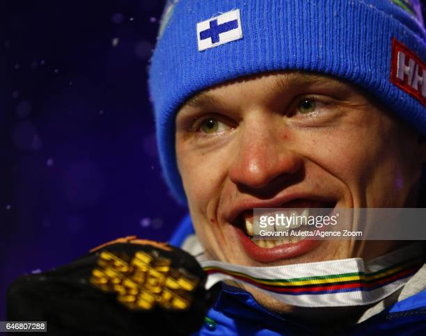 Iivo Niskanen of Finland wins the gold medal during the FIS Nordic World Ski Championships Men's Cross Country Distance on March 1, 2017 in Lahti,...