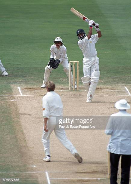 Ijaz Ahmed batting for Pakistan during the 1st Test match between England and Pakistan at Lord's Cricket Ground London 27th July 1996 The...