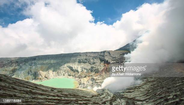 ijen volcano - volcanic activity stock pictures, royalty-free photos & images