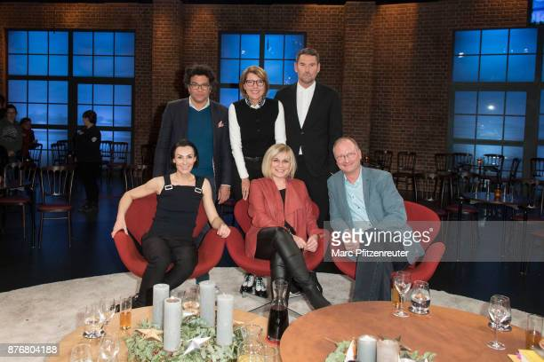 Ijoma Mangold Bettina Boettinger Michael Michalsky Marusha Mary Roos and Sven Ploeger attend the 'Koelner Treff' TV Show at the WDR Studio on...