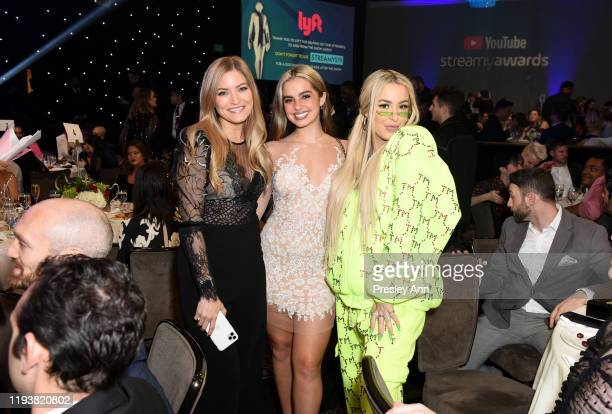 iJustine Addison Rae and Tana Mongeau attend The 9th Annual Streamy Awards on December 13 2019 in Los Angeles California