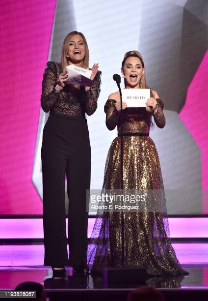 IJustine and Rosanna Pansino speak onstage during The 9th Annual Streamy Awards on December 13, 2019 in Los Angeles, California.