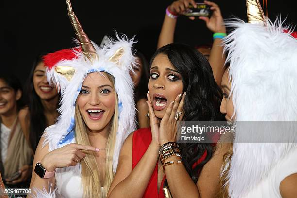 """IJustine, Lilly Singh and Cassey Ho attends YouTube Red Original Premiere of """"A Trip To Unicorn Island"""" at TCL Chinese Theatre on February 10, 2016..."""