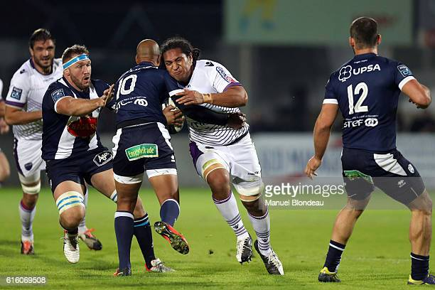 Ikapote Fono of Angouleme during the Pro D2 match between Agen and Soyaux Angouleme on October 21 2016 in Agen France
