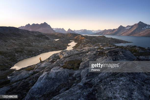 ikateq fjord - arctic stock pictures, royalty-free photos & images