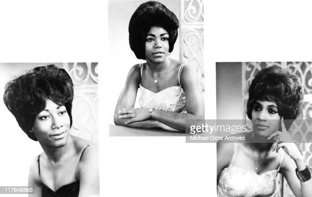 Ike and Tina Turner backup singers and recording artists The Ikettes LR Venetta Fields Jessie Smith and Robbie Montgomery pose for a portrait circa...