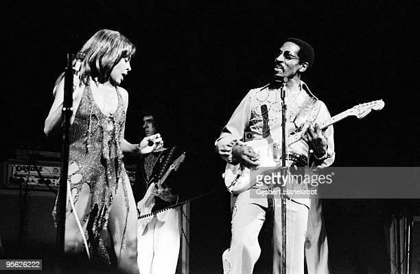 Ike and Tina Turner perform live on stage in the Netherlands, 1975.
