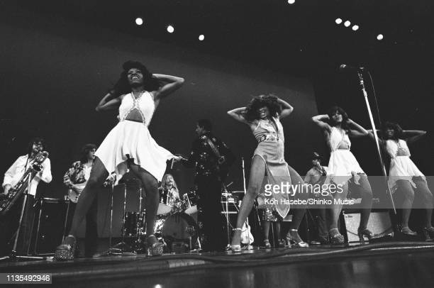 Ike and Tina Turner perform on stage with The Ikettes Japan March 1974