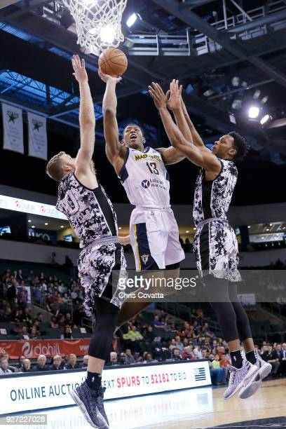 Ike Anigbogu of the Fort Wayne Mad Ants goes to the basket against the Austin Spurs during the NBA GLeague on March 4 2018 at the HEB Center At Cedar...