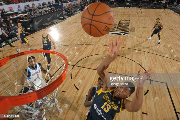 Ike Anigbogu of the Fort Wayne Mad Ants shoots the ball against the Oklahoma City Blue during the NBA GLeague Showcase on January 11 2018 at the...