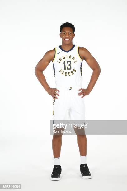 Ike Anigbogu of the Indiana Pacers poses for a portrait during the Pacers Media Day at Bankers Life Fieldhouse on September 25 2017 in Indianapolis...