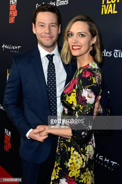 Ike Barinholtz and Erica Hanson arrive at the 2018 LA Film Festival Gala Screening of 'The Oath' at ArcLight Hollywood on September 25 2018 in...