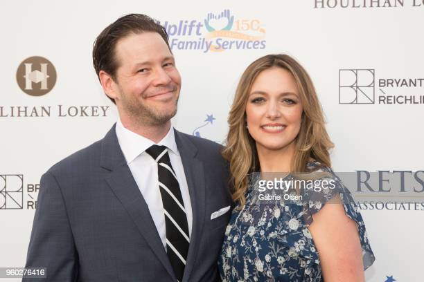 Ike Barinholtz and Erica Hanson arrive for the Uplift Family Services at Hollygrove's 7th Annual Norma Jean Gala at Hollygrove Campus on May 19 2018...