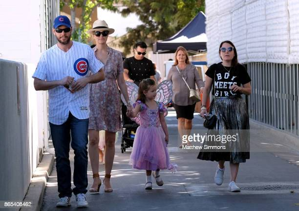 Ike Barinholtz and Erica Hanson at the GOOD Foundation's 2nd Annual Halloween Bash at Culver Studios on October 22 2017 in Culver City California
