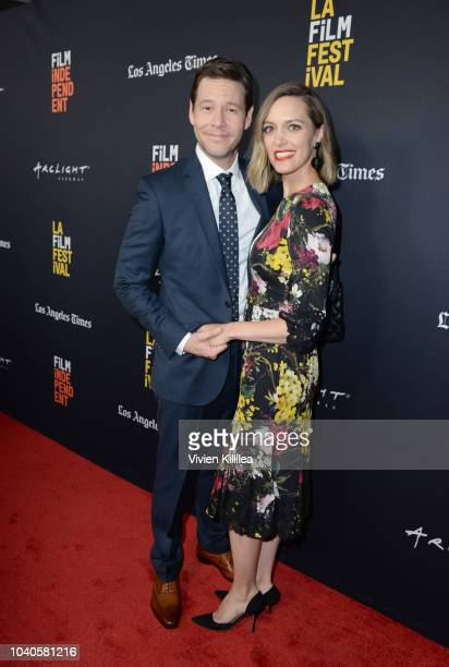 Ike Barinholtz and Erica Hanson attend LA Film Festival World Premiere Gala Screening Of THE OATH on September 25 2018 in Los Angeles California