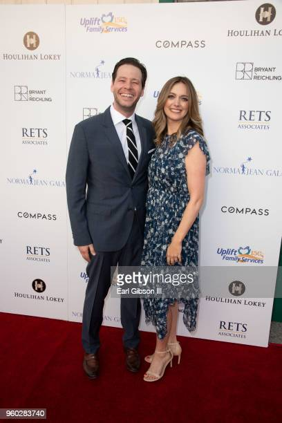 Ike Barinholtz and Erica Hanson attend Uplift Family Services At Hollygrove's 7th Annual Norma Jean Gala at Hollygrove Campus on May 19 2018 in...