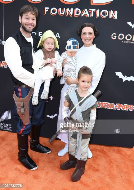 Ike Barinholtz Erica Hanson arrives at the Jessica and Jerry Seinfeld's GOOD Halloween Bash at Sony Pictures Studios on October 28 2018 in Culver...
