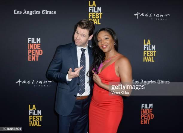 Ike Barinholtzz and Tiffany Hadish attend LA Film Festival World Premiere Gala Screening Of THE OATH on September 25 2018 in Los Angeles California