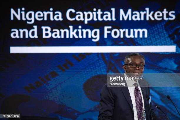 Ike Chioke chief executive officer of Afrinvest West Africa Ltd speaks during the Nigeria Capital Markets and Banking Forum in London UK on Friday...